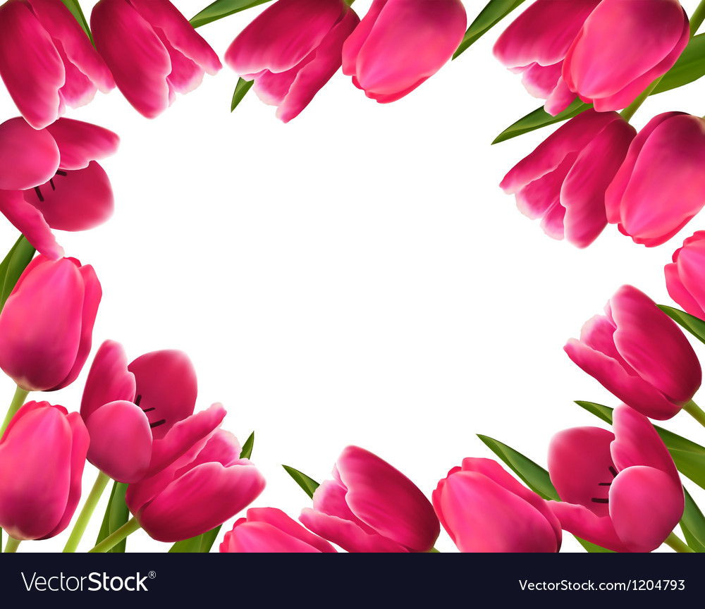 Pink fresh spring flowers background royalty free vector pink fresh spring flowers background vector image mightylinksfo Images