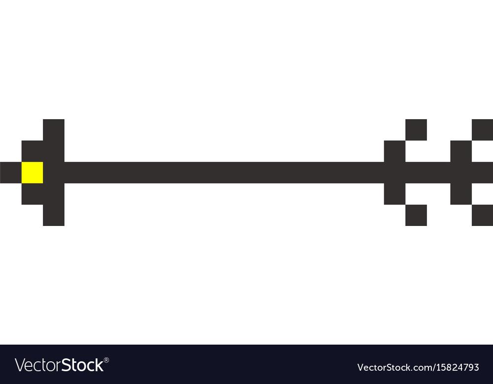 Pixel arrow pointer icon link marker vector image