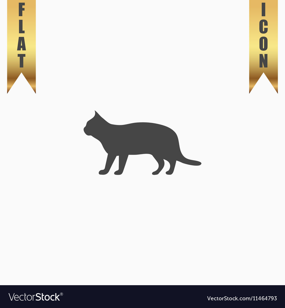Silhouettes of cat vector image