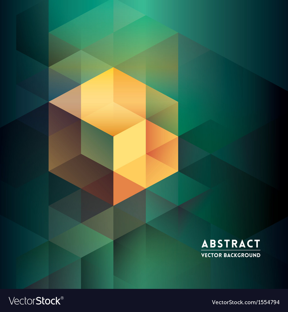 Abstract Isometric Shape Background vector image