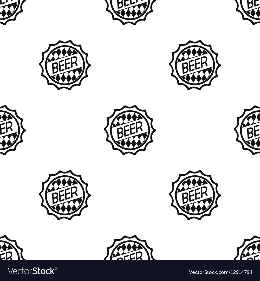 Bottle cap icon in black style isolated on white vector image