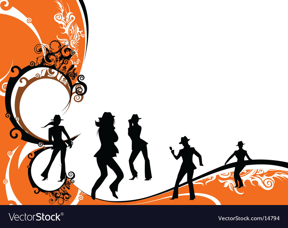 Party at the club vector image