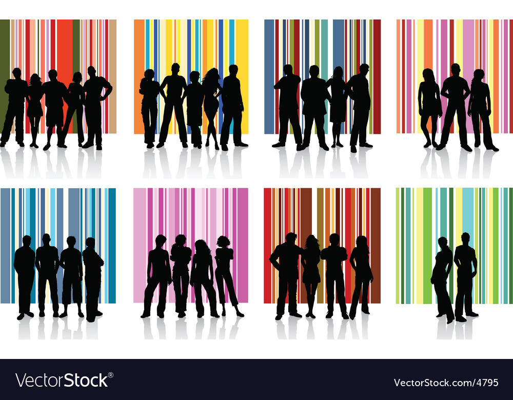 Groups of people vector image