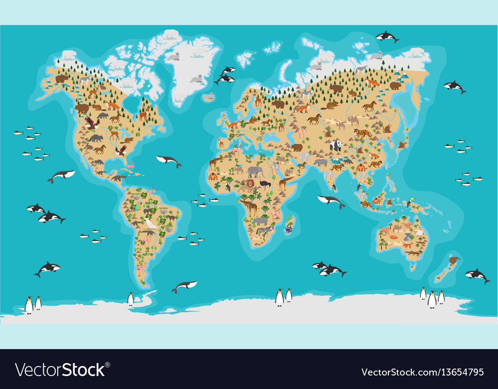 World map highly detailed royalty free vector image world map highly detailed vector image gumiabroncs Choice Image