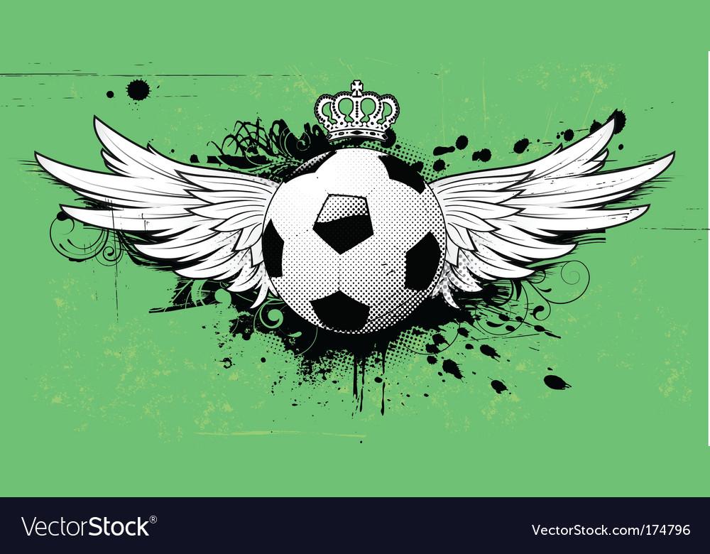 Soccer grunge emblem Vector Image