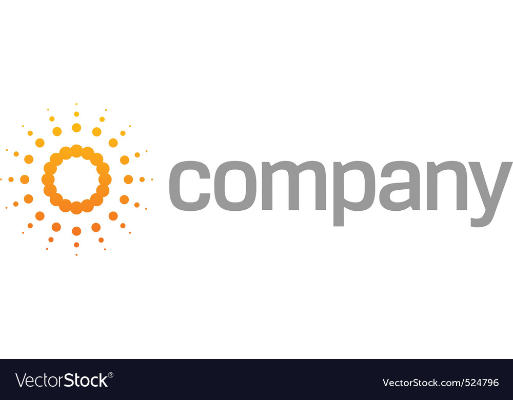 Sunlight as religion logo vector image