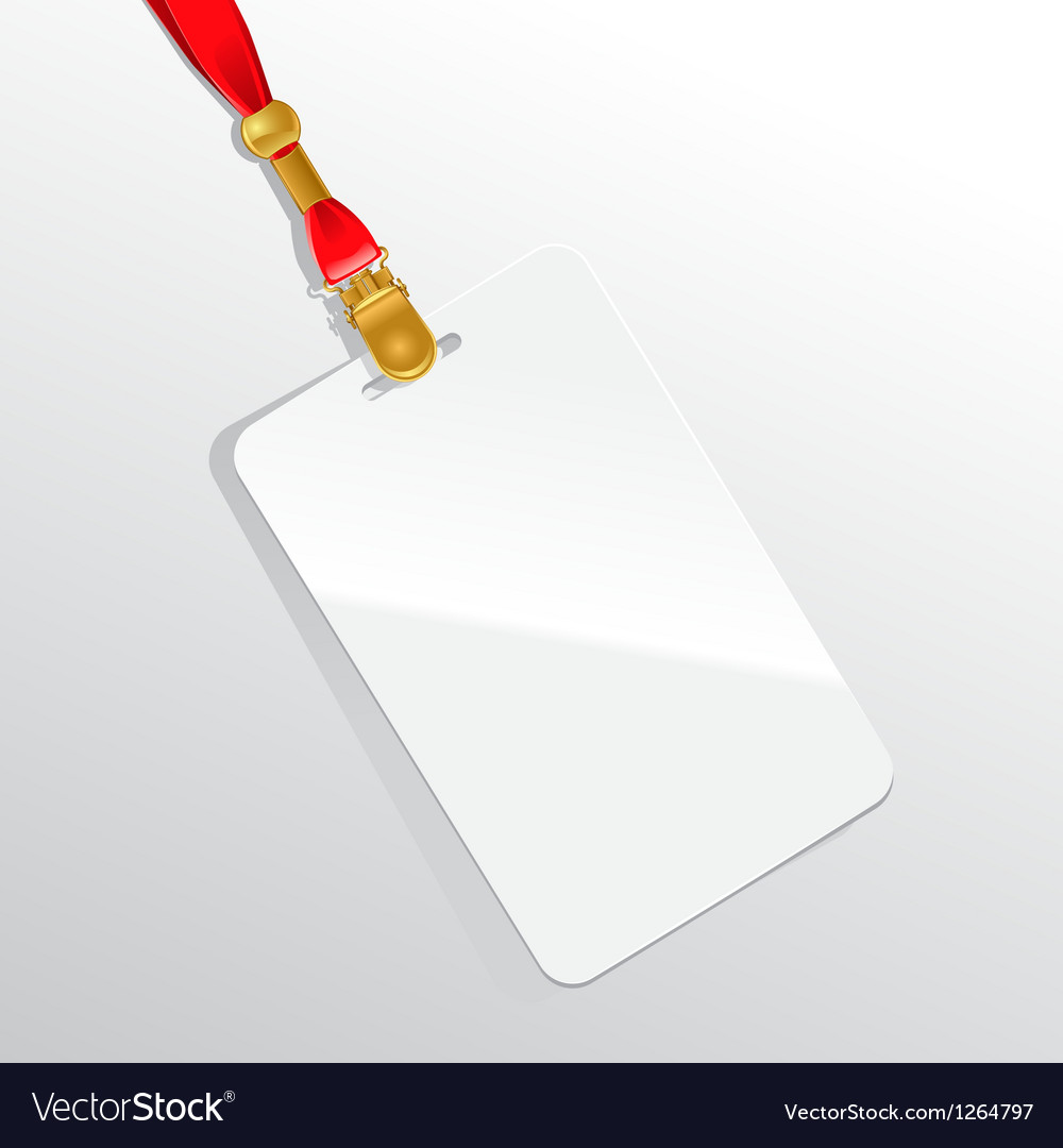 Blank badge on a red neckband vector image