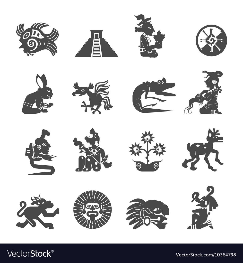 Maya symbols flat icons set royalty free vector image maya symbols flat icons set vector image biocorpaavc Images