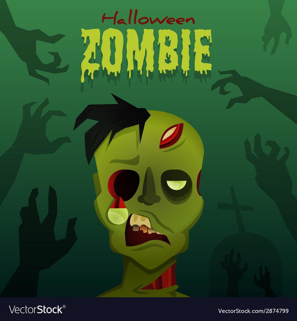 Halloween zombie vector image