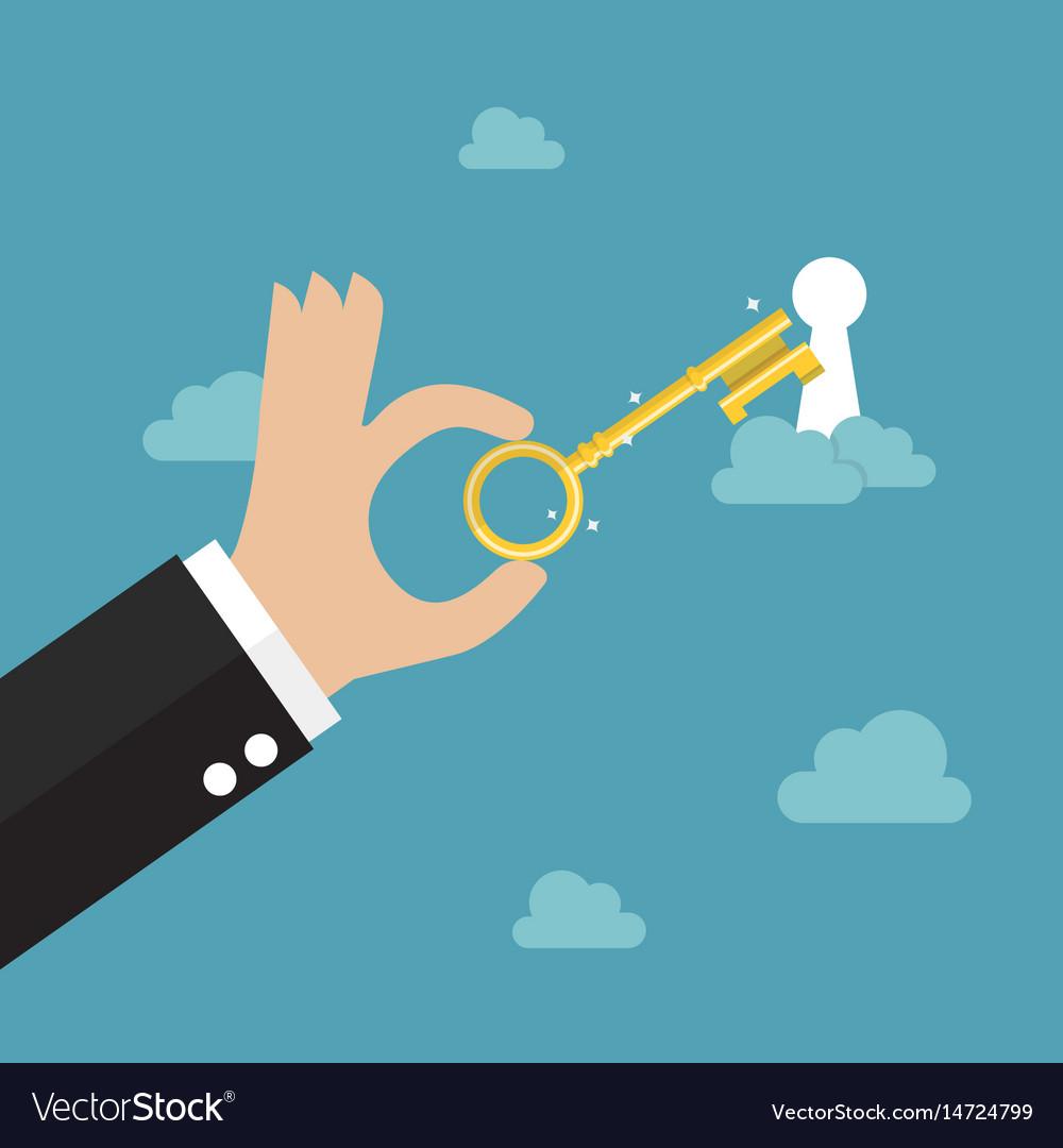 Unlock your dream vector image