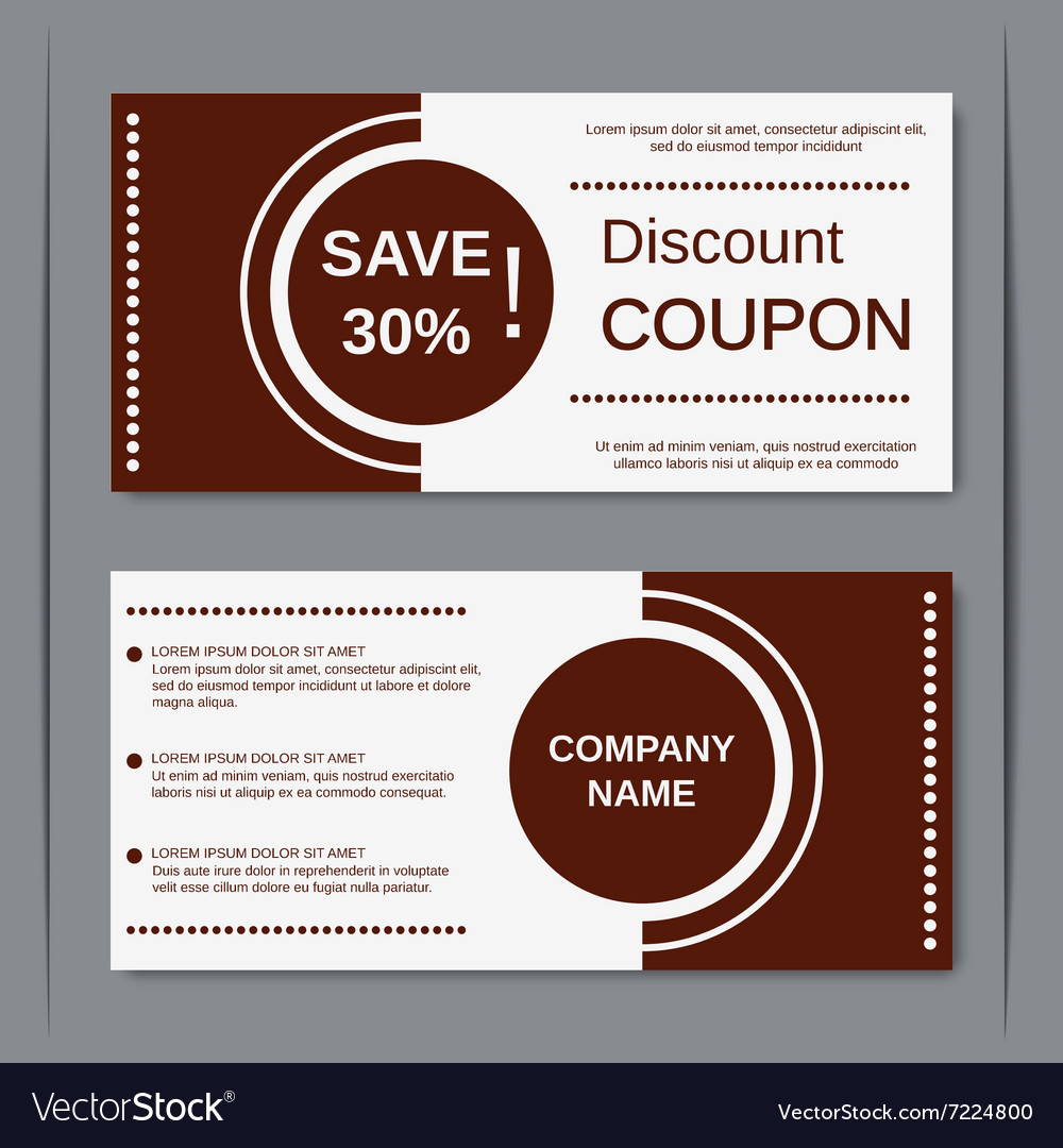Discount coupon design template Royalty Free Vector Image