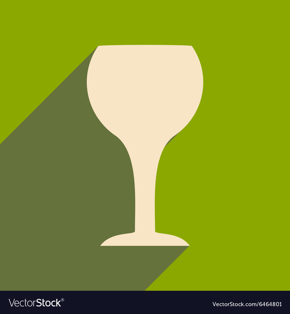 Flat with shadow icon and mobile applacation wine