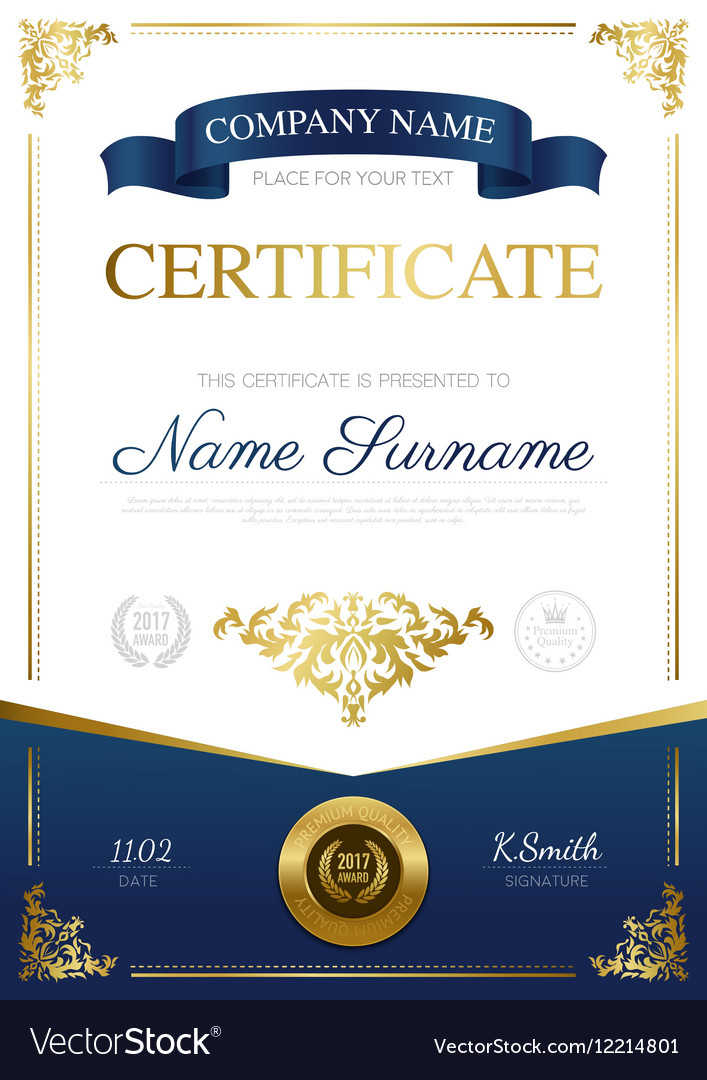 Stylish certificate design royalty free vector image stylish certificate design vector image yadclub Images