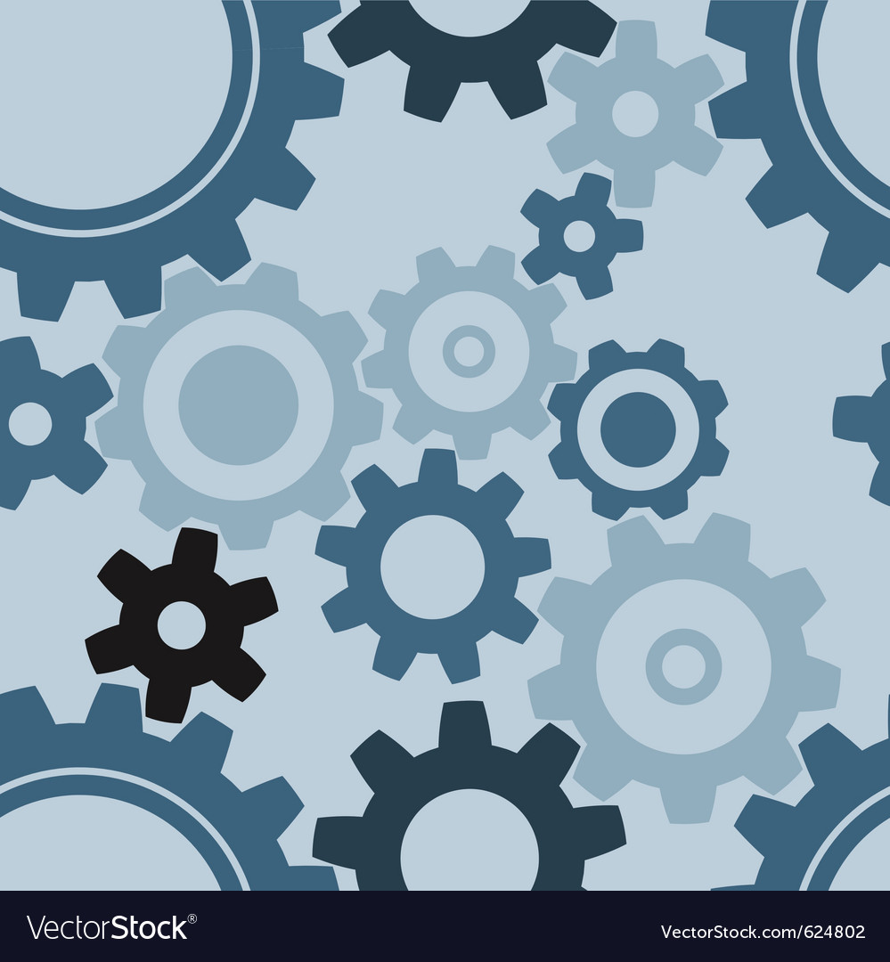 Seamless cogwheel patterns vector image