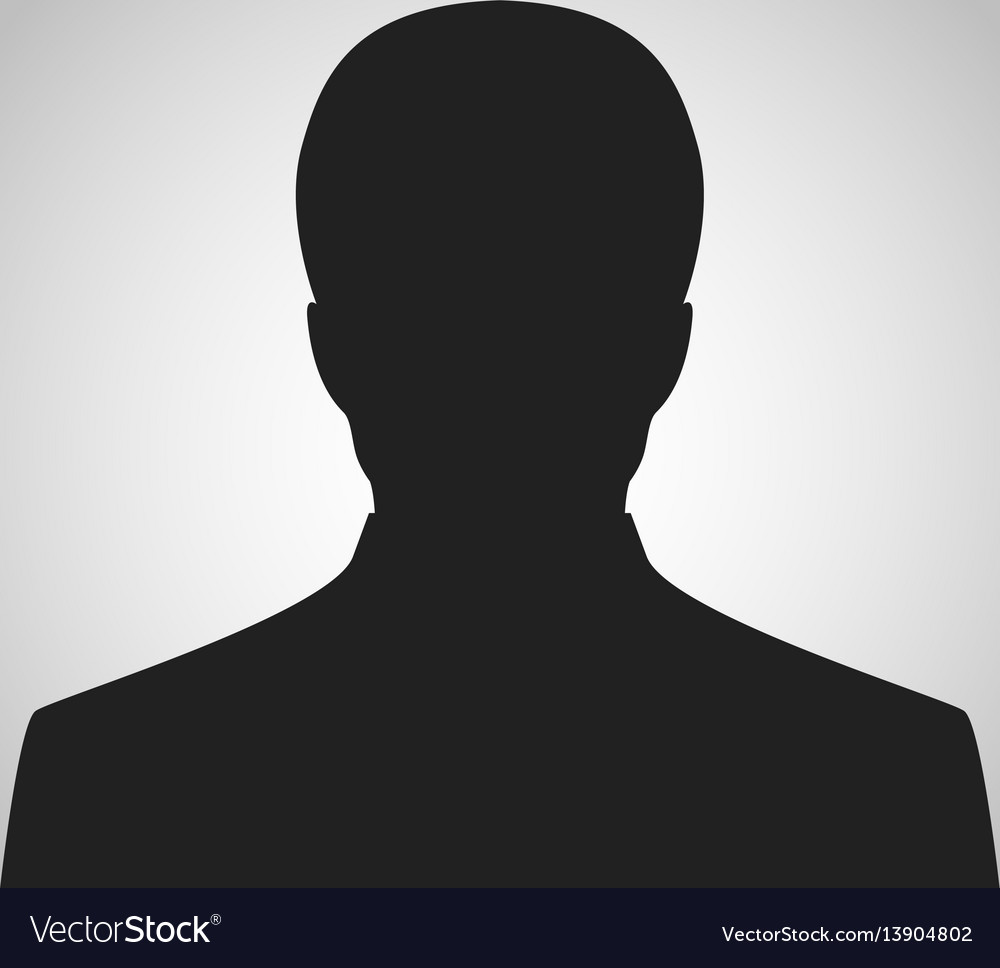 Icon man silhouette vector image