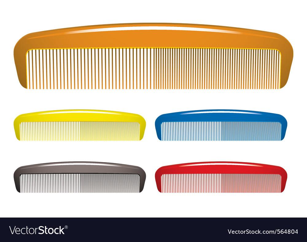 Plastic hair comb vector image