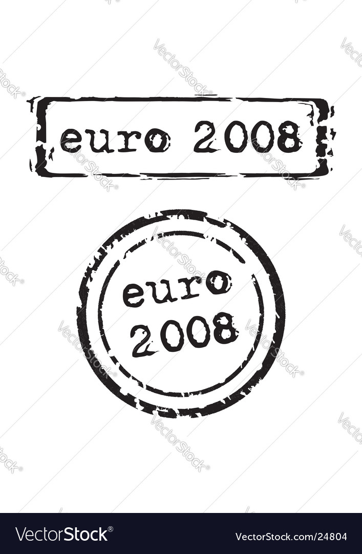 Euro 2008 stamp vector image