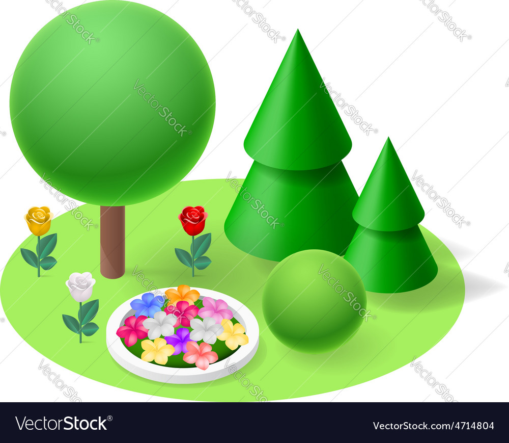 Nature flat element vector image