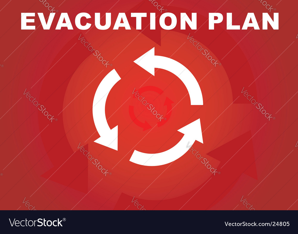 Evacuation plan vector image