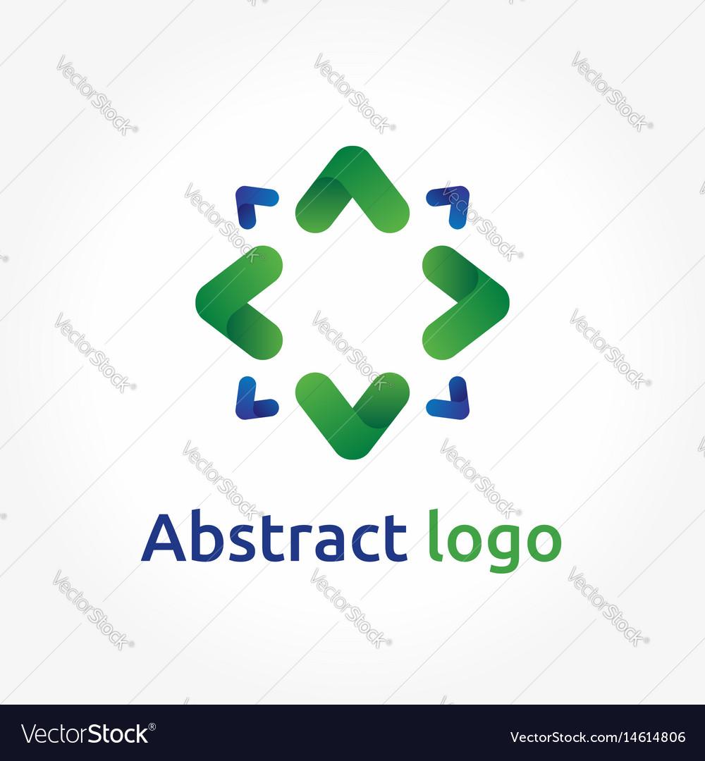 Abstract arrows logo template direction icon vector image
