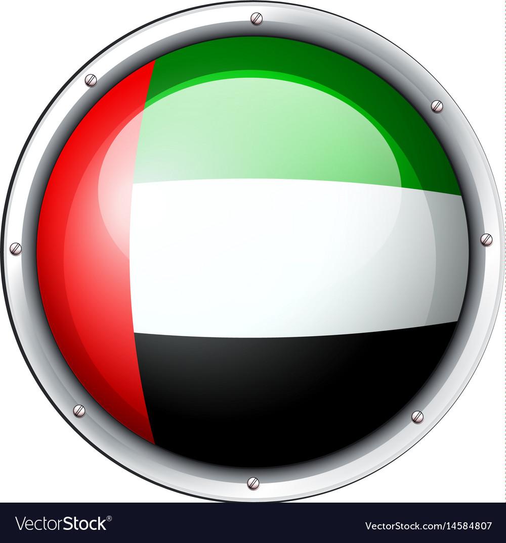 Badge design for arab emirates vector image