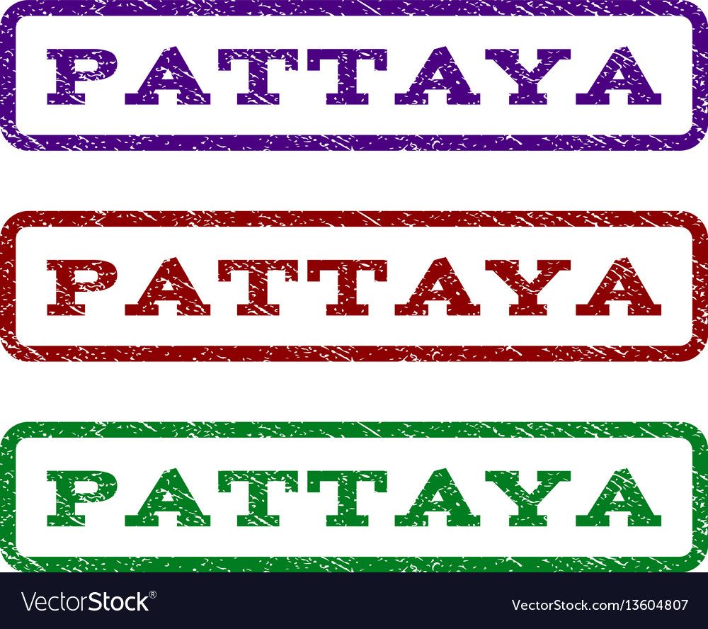 Pattaya watermark stamp vector image