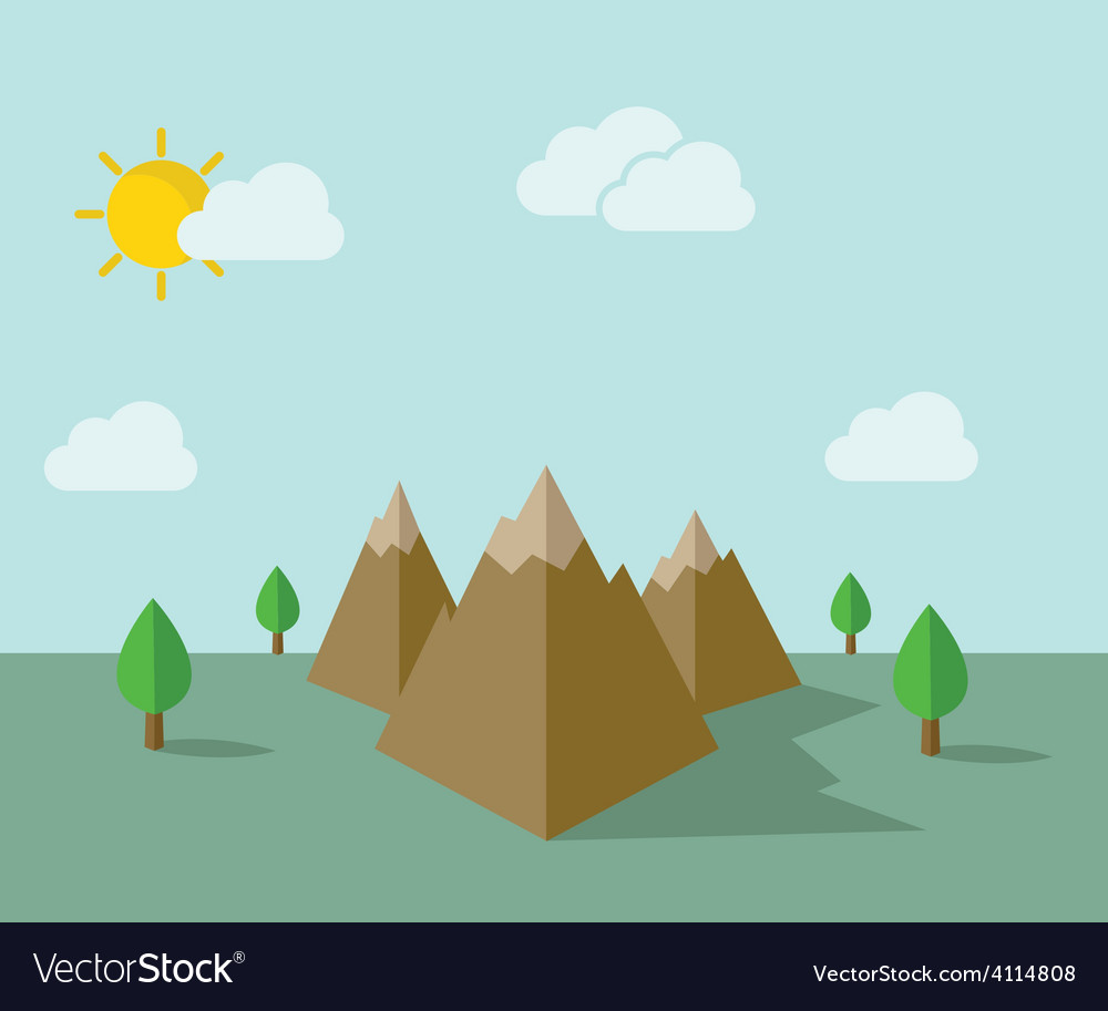 Moutain vector image