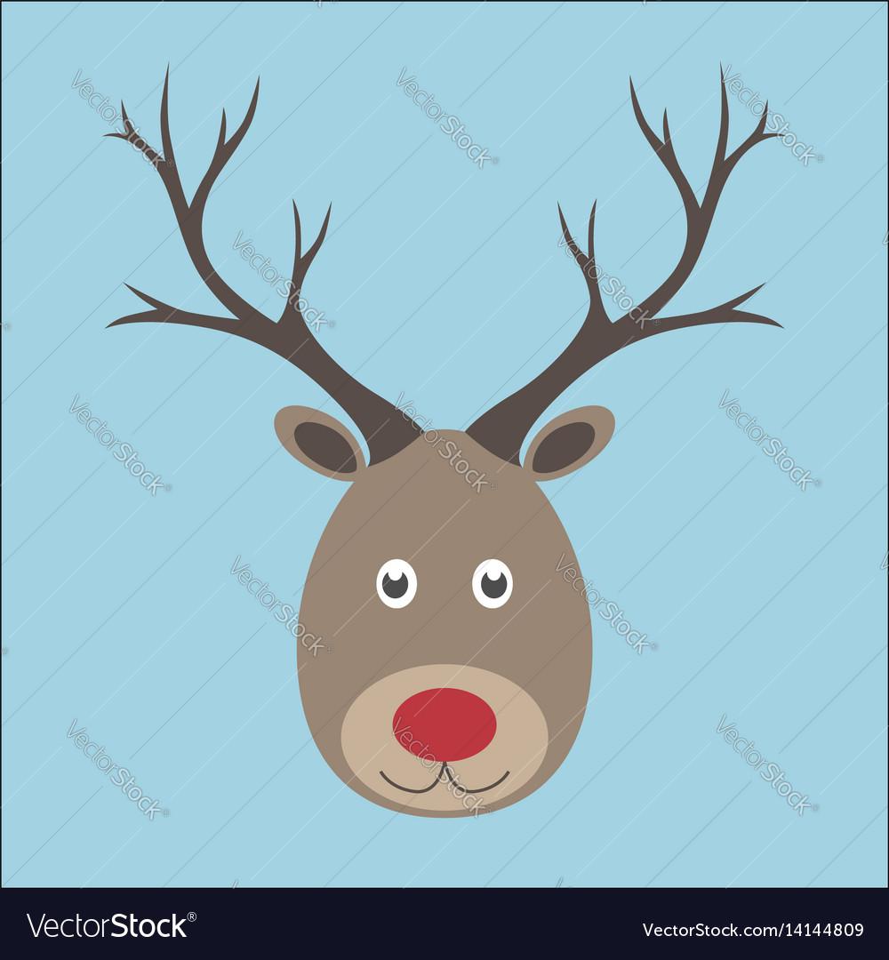 Christmas reindeer portrait vector image