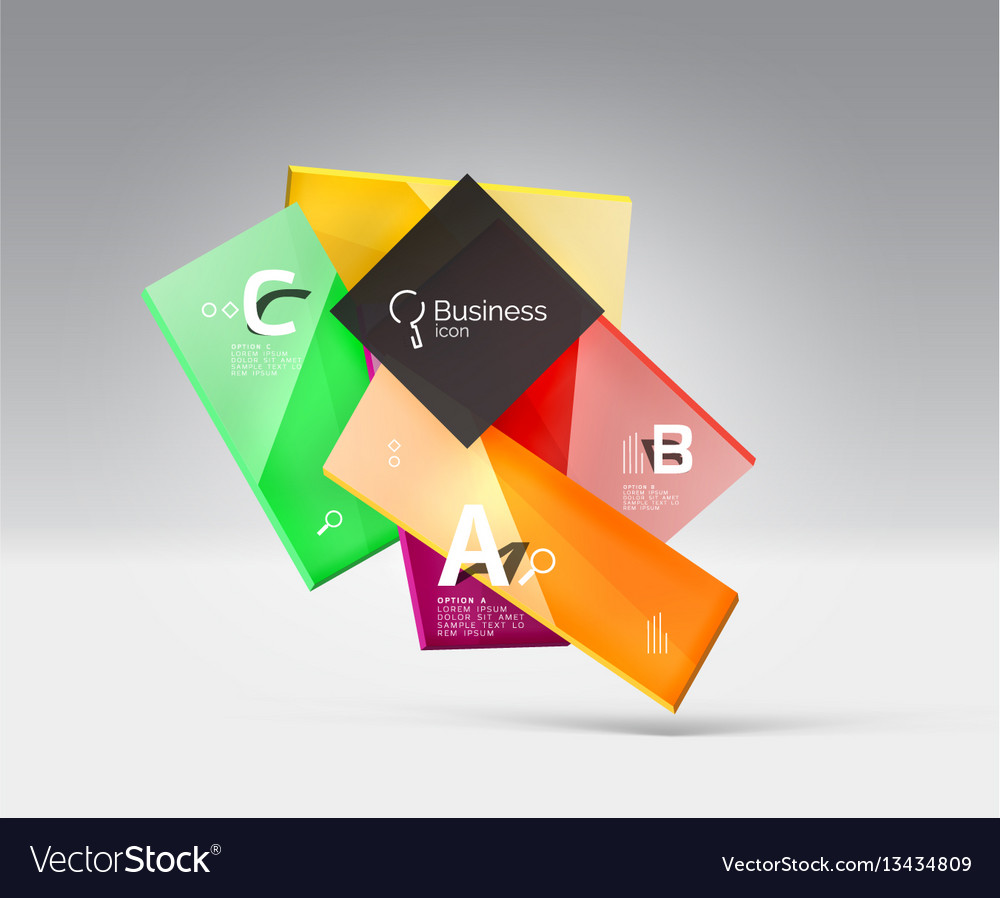 Futuristic abstract template vector image
