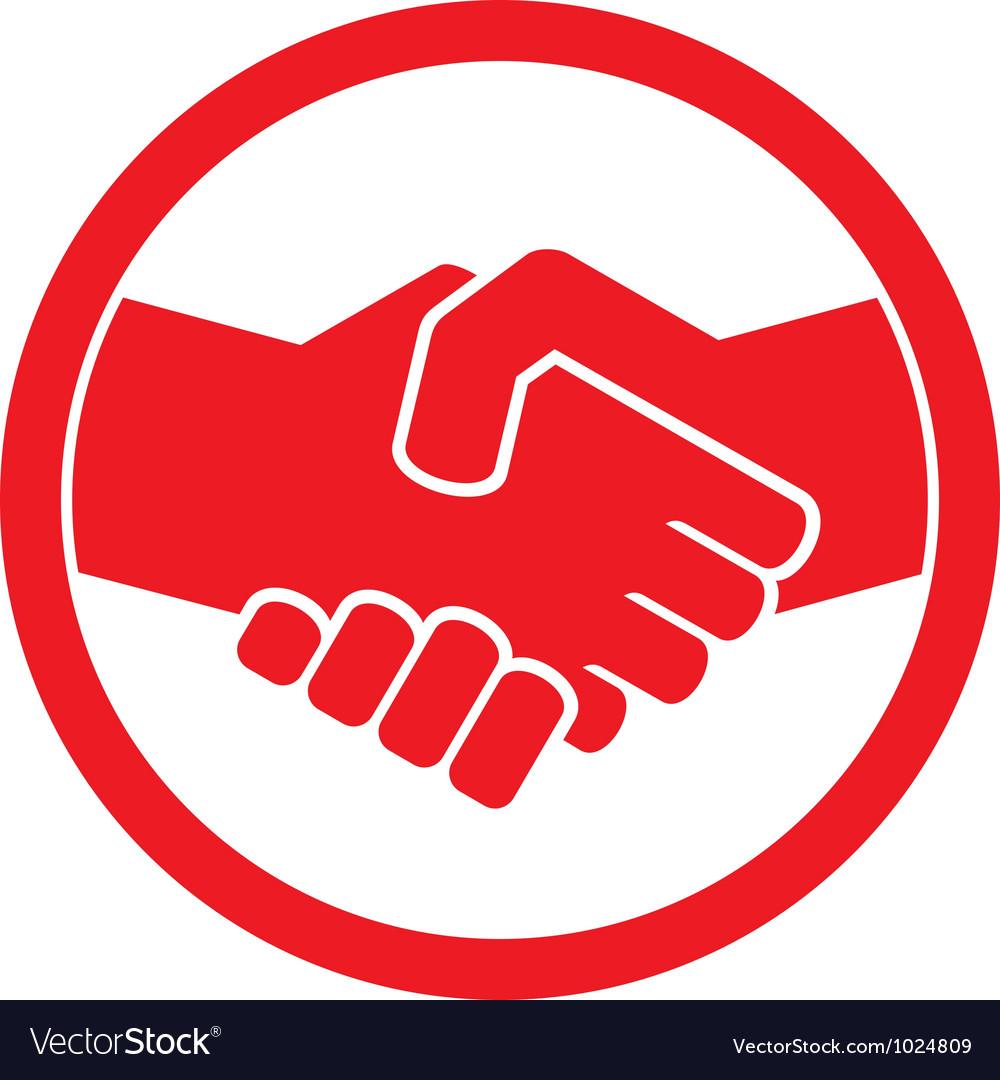 Handshake symbol vector image