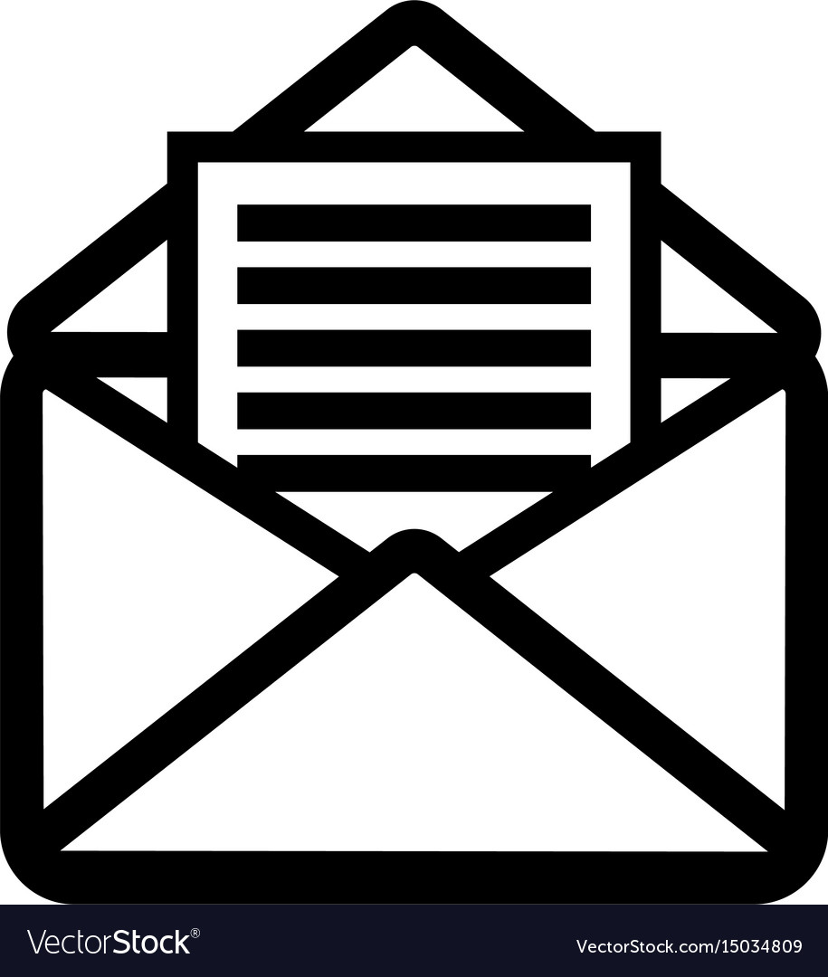 Open letter icon vector image