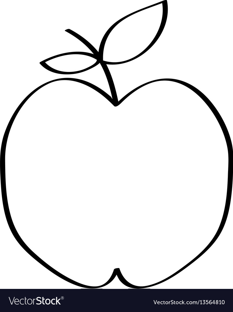 apple fruit drawing. apple fresh fruit drawing icon vector image