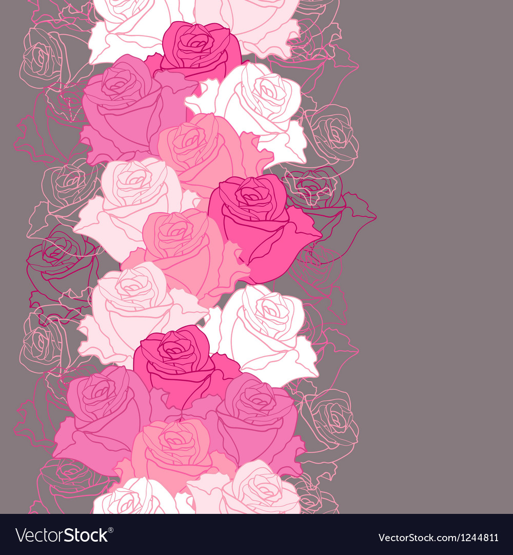 Seamless pattern with flowers roses vector image