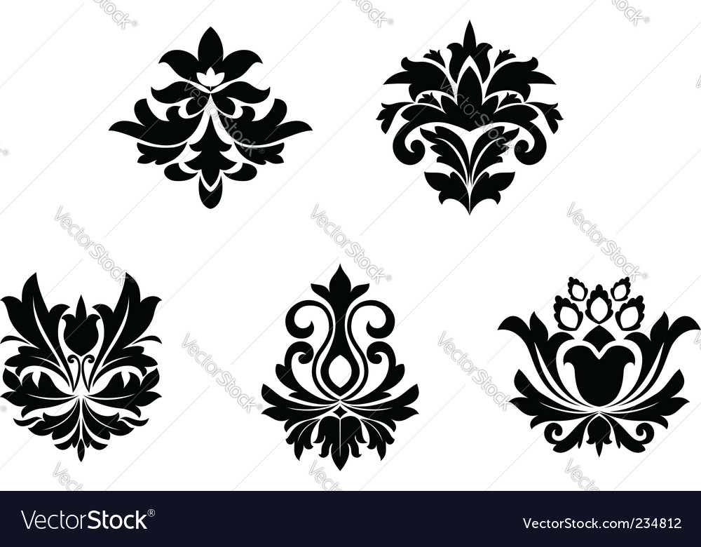 Flower patterns vector image