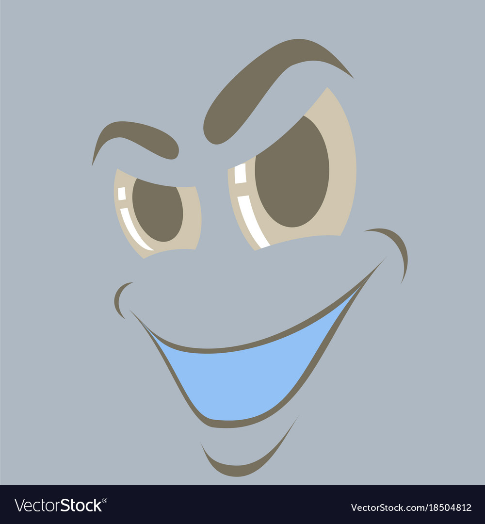 Flat icons on theme cartoon face funny emotion