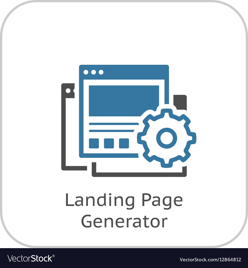 Landing Page Generator Icon Flat Design vector image