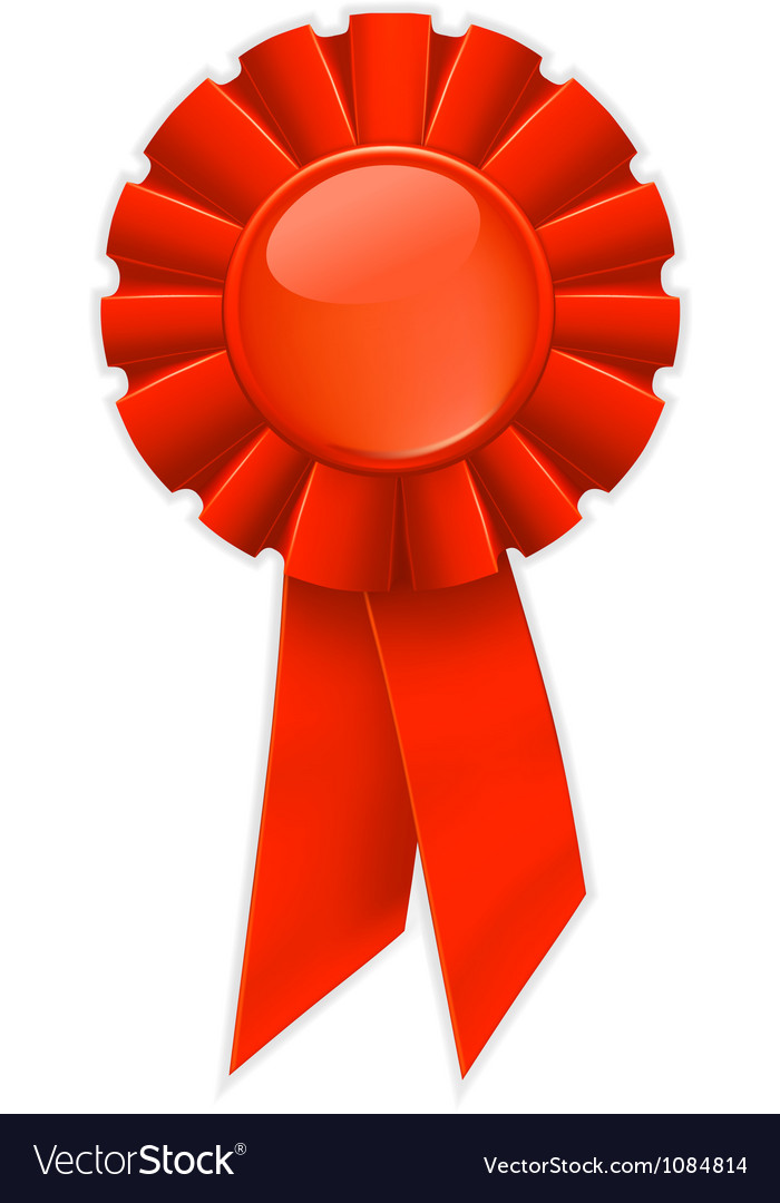 First place red ribbon Vector Image