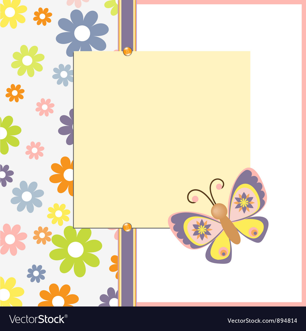 Template for spring easter postcard Royalty Free Vector Image – Easter Postcard Template