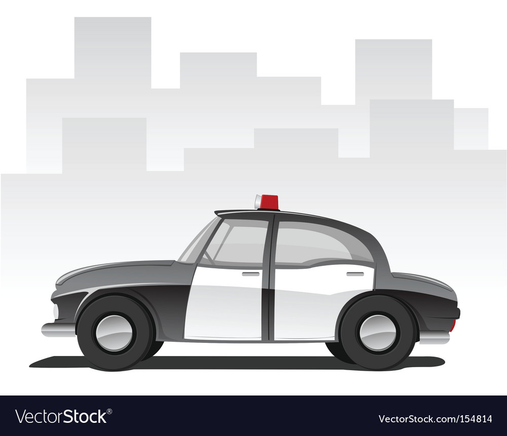 Cartoon police car vector image
