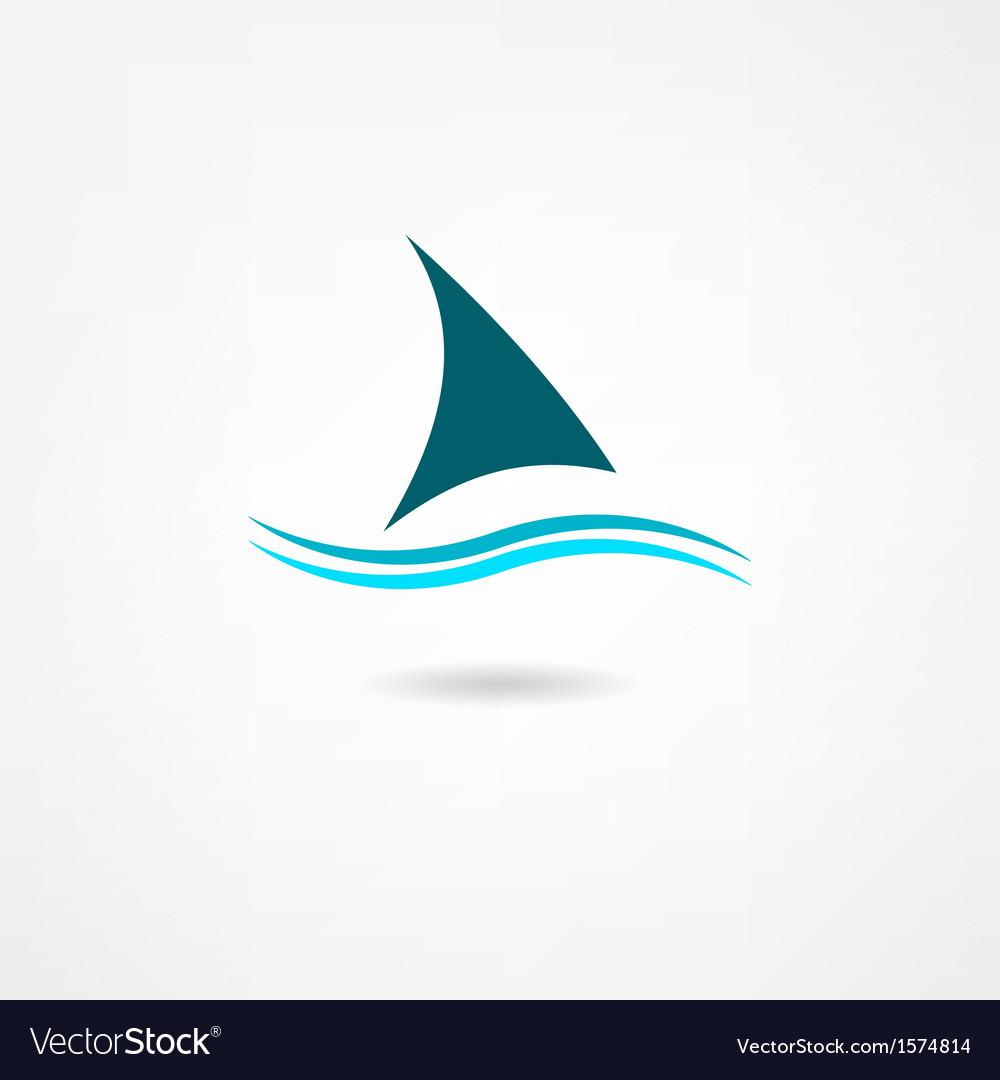 Sail icon vector image