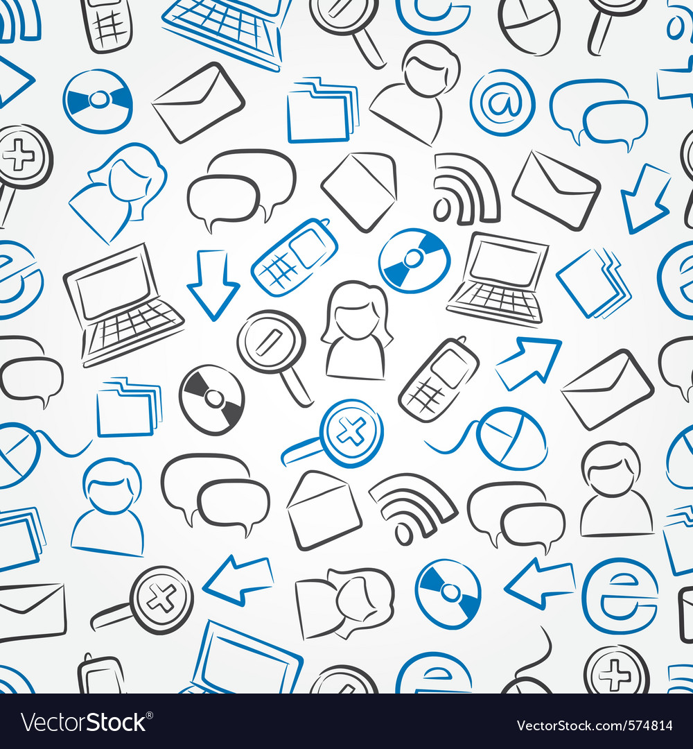 Technology pattern vector image