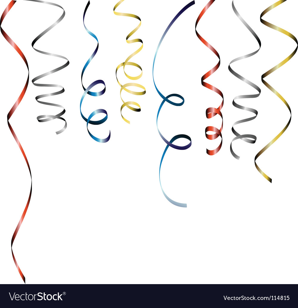 Curly ribbons vector image