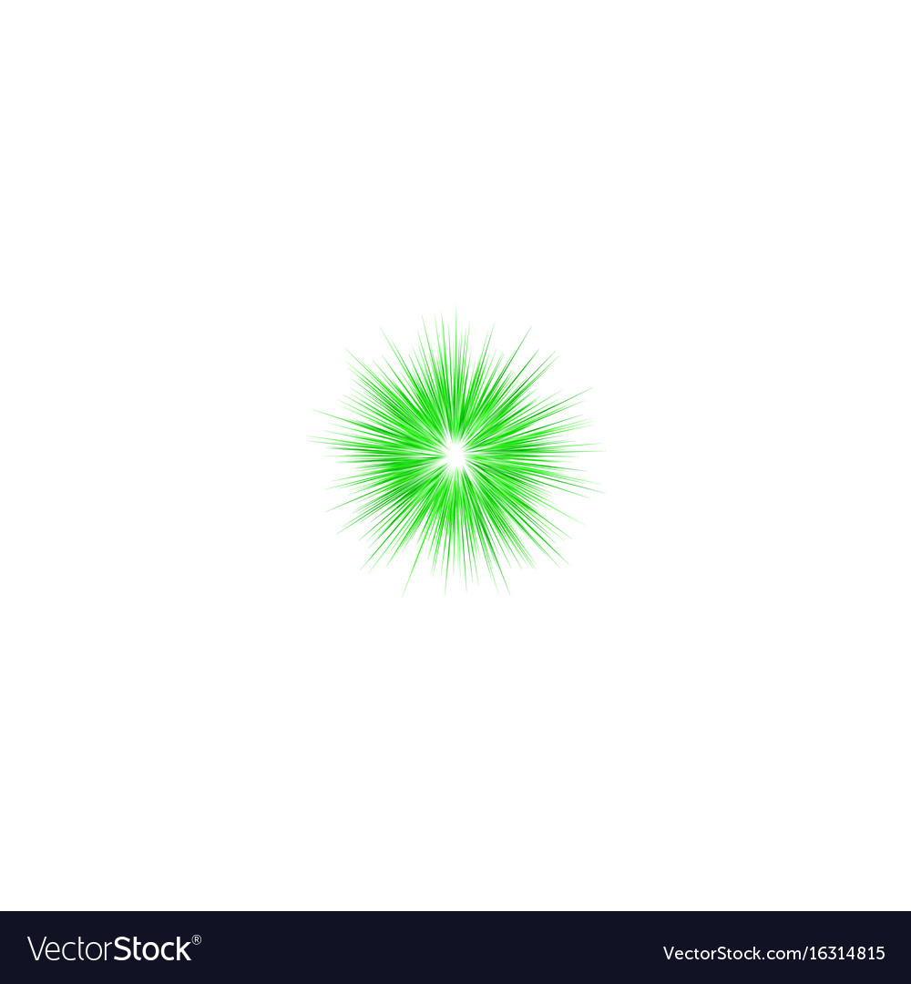 Green abstract explosion design background vector image