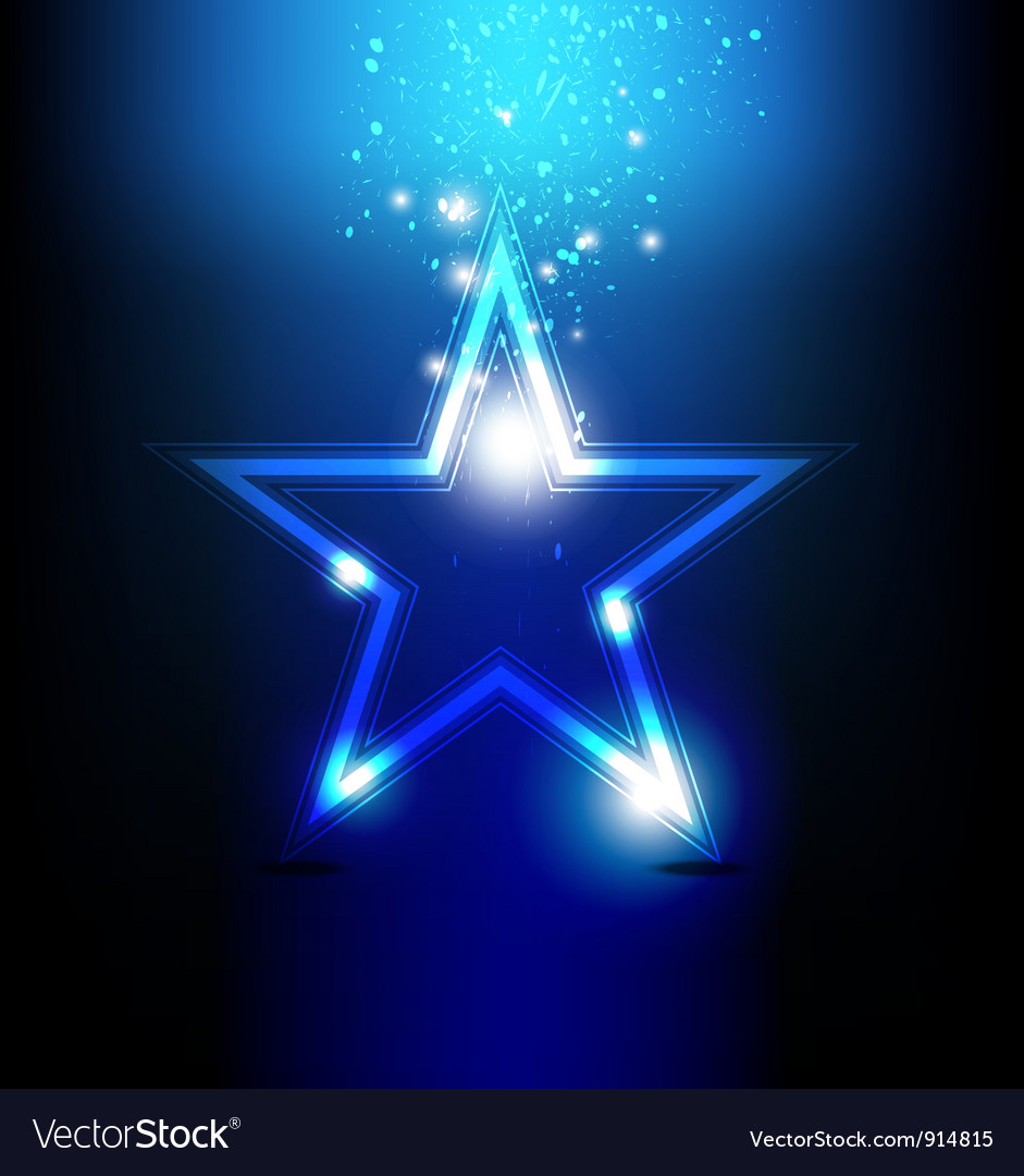 Shiny star celebration vector image