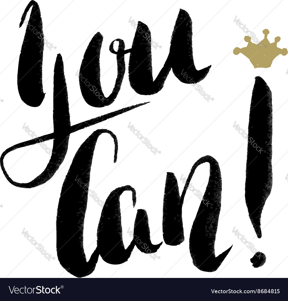 You can Hand drawn phrase vector image