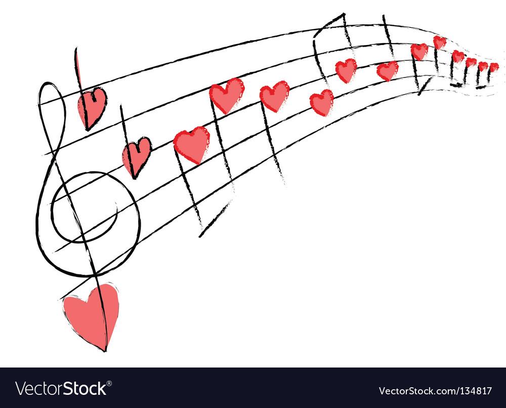Love music vector image