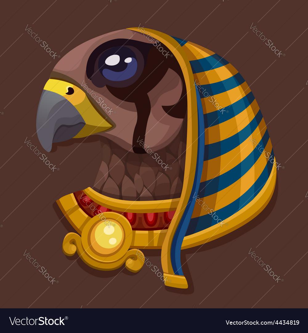 Head symbol of god Ra vector image