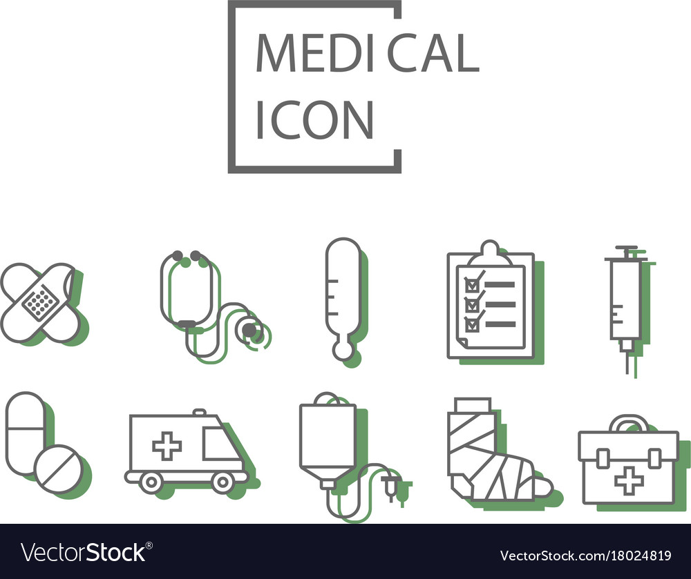 Simple medical set vector image