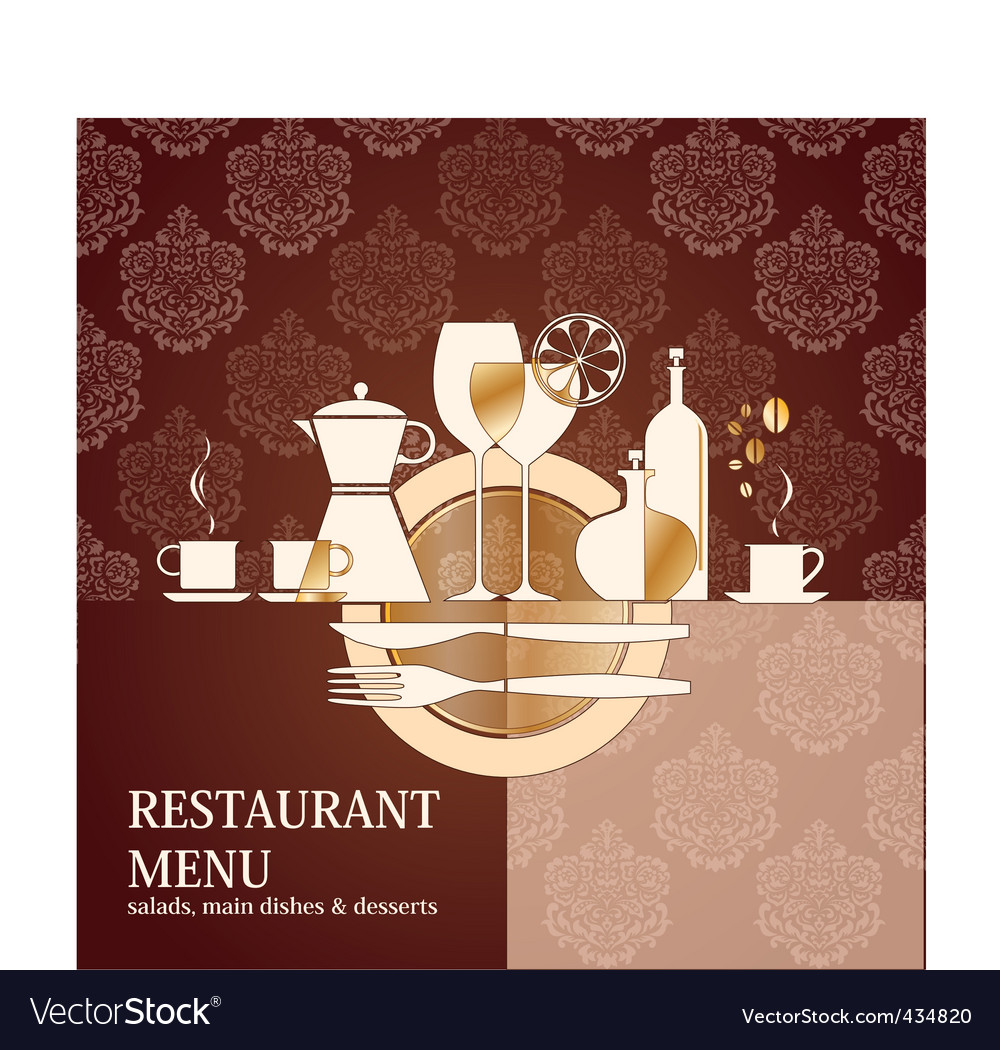 Vector restaurant menu design vector image