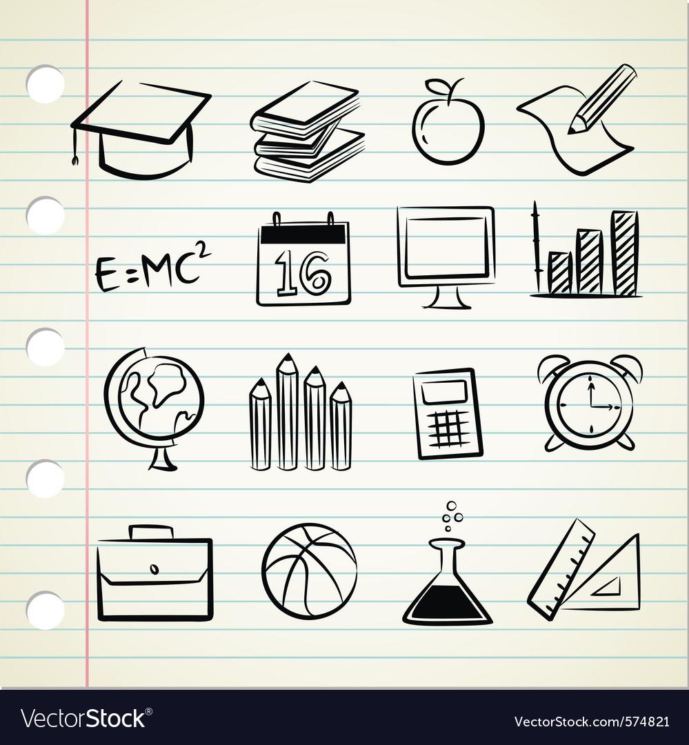 Sketchy education Vector Image